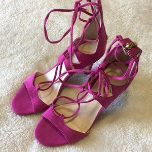 Marc Fisher suede pink heels